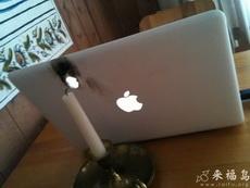 吃完烛光晚餐后就在桌上玩起了电脑,不料悲剧了