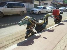 誰家的汗血寶馬停在路邊的