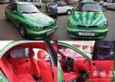 西瓜车,内饰也像西瓜