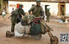 非洲军人的战车