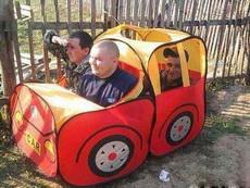 朋友说他们是开车来的!