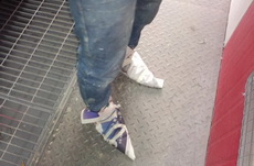 车站看到一个屌炸天的鞋子