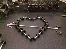 健身人士的表达爱意