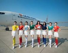 世界杯期间,国内多家航空公司纷纷推出了世界杯主题的客舱互动活动