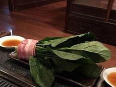 点了个菠菜培根卷