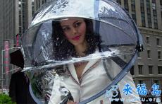 没有手柄的雨伞