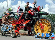 捍马级的摩托车