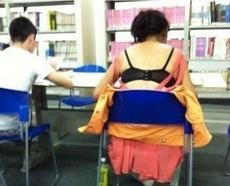 图书馆的妹纸暴强啊
