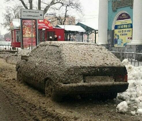 車停馬路邊就成這樣了,你說這找誰說理去呢!